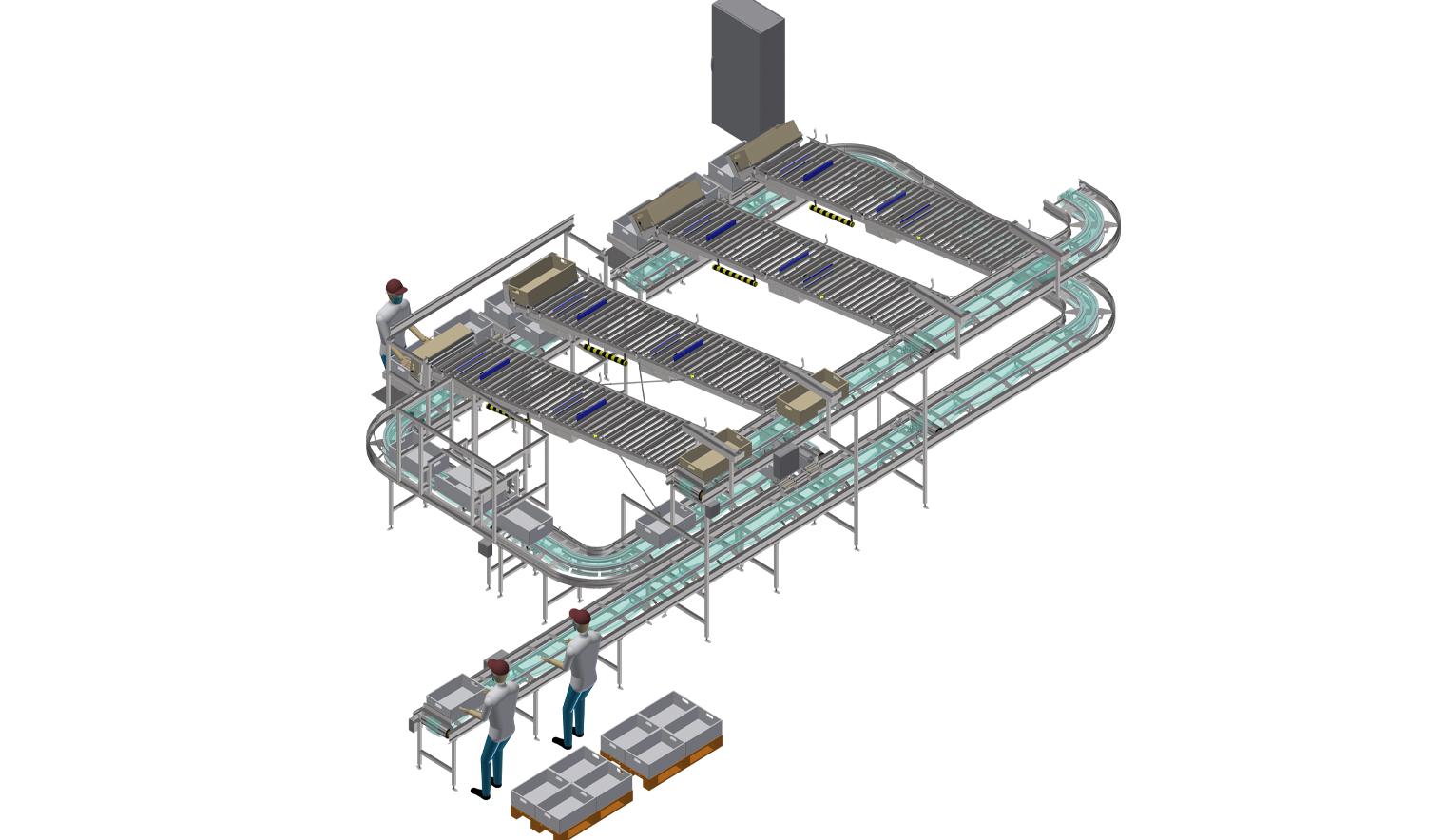 desarrollo automatizado sector carnico 1 - Mayor producción y mejor gestión de tráfico para el tratamiento en planta de productos cárnicos.